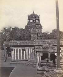 Calliar Covill [Kalaiyarkovil]. General view of the inner court
